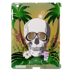 Funny Skull With Sunglasses And Palm Apple Ipad 3/4 Hardshell Case (compatible With Smart Cover) by FantasyWorld7