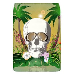 Funny Skull With Sunglasses And Palm Flap Covers (s)  by FantasyWorld7