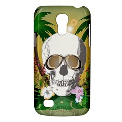 Funny Skull With Sunglasses And Palm Galaxy S4 Mini by FantasyWorld7