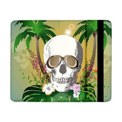 Funny Skull With Sunglasses And Palm Samsung Galaxy Tab Pro 8 4  Flip Case