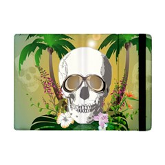 Funny Skull With Sunglasses And Palm Ipad Mini 2 Flip Cases by FantasyWorld7