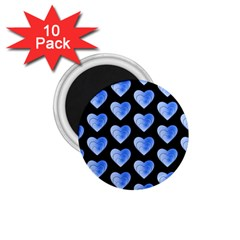 Heart Pattern Blue 1 75  Magnets (10 Pack)  by MoreColorsinLife