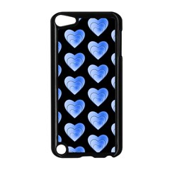 Heart Pattern Blue Apple Ipod Touch 5 Case (black) by MoreColorsinLife