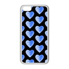 Heart Pattern Blue Apple Iphone 5c Seamless Case (white)