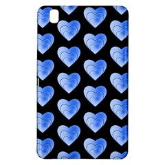 Heart Pattern Blue Samsung Galaxy Tab Pro 8 4 Hardshell Case by MoreColorsinLife