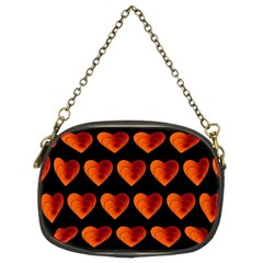 Heart Pattern Orange Chain Purses (two Sides)  by MoreColorsinLife