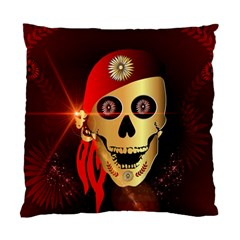 Funny, Happy Skull Standard Cushion Case (one Side)  by FantasyWorld7