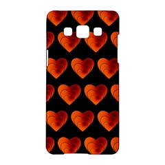 Heart Pattern Orange Samsung Galaxy A5 Hardshell Case  by MoreColorsinLife