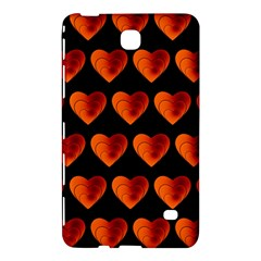 Heart Pattern Orange Samsung Galaxy Tab 4 (8 ) Hardshell Case  by MoreColorsinLife