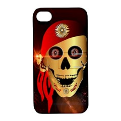 Funny, Happy Skull Apple Iphone 4/4s Hardshell Case With Stand by FantasyWorld7