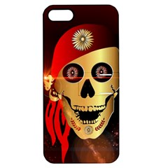 Funny, Happy Skull Apple Iphone 5 Hardshell Case With Stand by FantasyWorld7