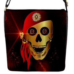 Funny, Happy Skull Flap Messenger Bag (s) by FantasyWorld7