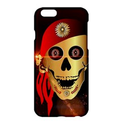 Funny, Happy Skull Apple Iphone 6/6s Plus Hardshell Case by FantasyWorld7