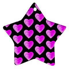 Heart Pattern Pink Ornament (star)  by MoreColorsinLife