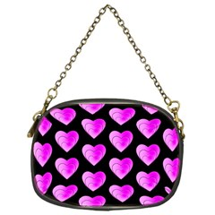 Heart Pattern Pink Chain Purses (one Side)  by MoreColorsinLife