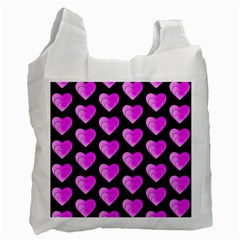 Heart Pattern Pink Recycle Bag (two Side)  by MoreColorsinLife