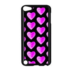 Heart Pattern Pink Apple Ipod Touch 5 Case (black) by MoreColorsinLife