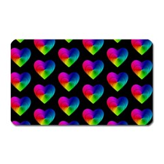 Heart Pattern Rainbow Magnet (rectangular) by MoreColorsinLife