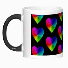 Heart Pattern Rainbow Morph Mugs by MoreColorsinLife
