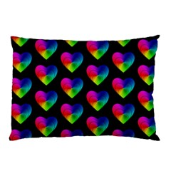 Heart Pattern Rainbow Pillow Cases by MoreColorsinLife
