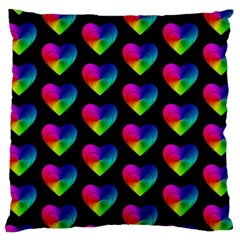 Heart Pattern Rainbow Large Cushion Cases (one Side)
