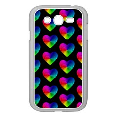 Heart Pattern Rainbow Samsung Galaxy Grand Duos I9082 Case (white)