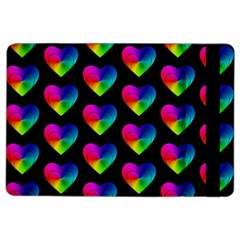 Heart Pattern Rainbow Ipad Air 2 Flip by MoreColorsinLife
