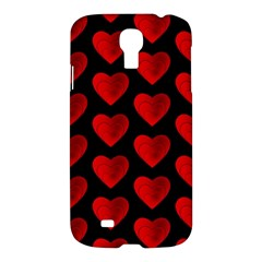 Heart Pattern Red Samsung Galaxy S4 I9500/i9505 Hardshell Case by MoreColorsinLife
