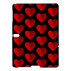 Heart Pattern Red Samsung Galaxy Tab S (10 5 ) Hardshell Case  by MoreColorsinLife