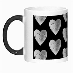 Heart Pattern Silver Morph Mugs by MoreColorsinLife