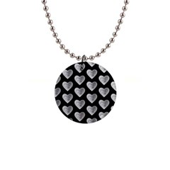 Heart Pattern Silver Button Necklaces