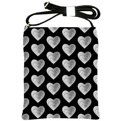 Heart Pattern Silver Shoulder Sling Bags by MoreColorsinLife