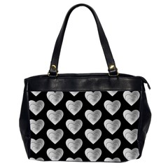 Heart Pattern Silver Office Handbags (2 Sides)  by MoreColorsinLife