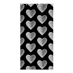 Heart Pattern Silver Shower Curtain 36  X 72  (stall)  by MoreColorsinLife