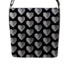 Heart Pattern Silver Flap Messenger Bag (l)  by MoreColorsinLife