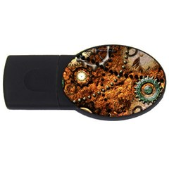 Steampunk In Noble Design Usb Flash Drive Oval (4 Gb)  by FantasyWorld7