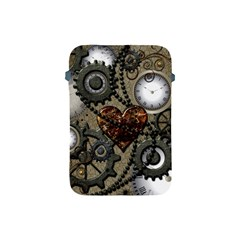Steampunk With Clocks And Gears And Heart Apple Ipad Mini Protective Soft Cases