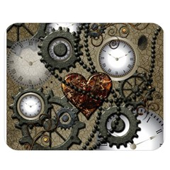 Steampunk With Clocks And Gears And Heart Double Sided Flano Blanket (medium)