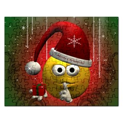 Funny Christmas Smiley Rectangular Jigsaw Puzzl by FantasyWorld7
