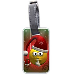 Funny Christmas Smiley Luggage Tags (two Sides) by FantasyWorld7