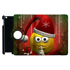 Funny Christmas Smiley Apple Ipad 3/4 Flip 360 Case by FantasyWorld7