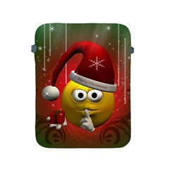 Funny Christmas Smiley Apple Ipad 2/3/4 Protective Soft Cases by FantasyWorld7