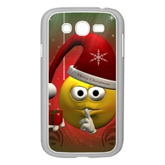 Funny Christmas Smiley Samsung Galaxy Grand Duos I9082 Case (white) by FantasyWorld7