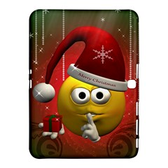 Funny Christmas Smiley Samsung Galaxy Tab 4 (10 1 ) Hardshell Case  by FantasyWorld7