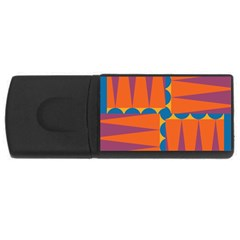 Angles Usb Flash Drive Rectangular (4 Gb) by LalyLauraFLM
