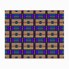 Rectangles And Stripes Pattern Small Glasses Cloth by LalyLauraFLM