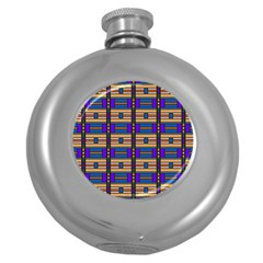 Rectangles And Stripes Pattern Hip Flask (5 Oz) by LalyLauraFLM
