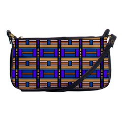 Rectangles And Stripes Pattern Shoulder Clutch Bag by LalyLauraFLM