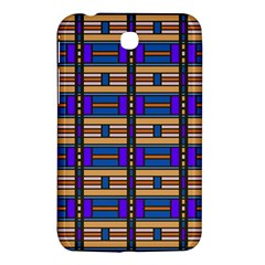 Rectangles And Stripes Pattern Samsung Galaxy Tab 3 (7 ) P3200 Hardshell Case  by LalyLauraFLM