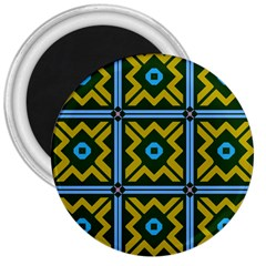 Rhombus In Squares Pattern 3  Magnet by LalyLauraFLM